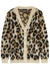 Leopard-intarsia knitted cardigan - Boutique Moschino