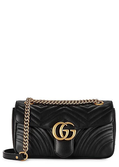 d77badfd1739a0 Gucci GG Marmont small leather shoulder bag - Harvey Nichols