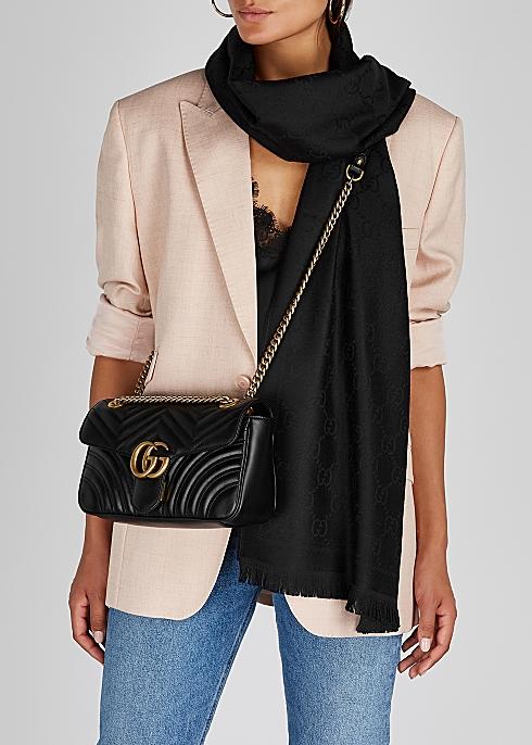 238968207c21 Gucci GG Marmont small leather shoulder bag - Harvey Nichols