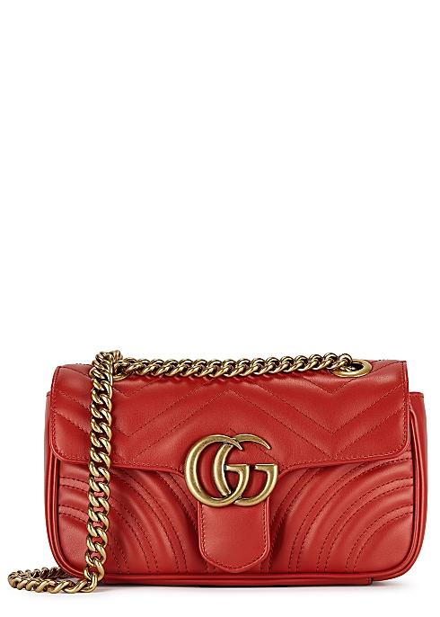 47d57faf32a9 Gucci GG Marmont mini leather shoulder bag - Harvey Nichols