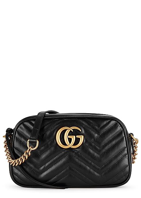 8f7b3ed5a348 Gucci GG Marmont small leather cross-body bag - Harvey Nichols