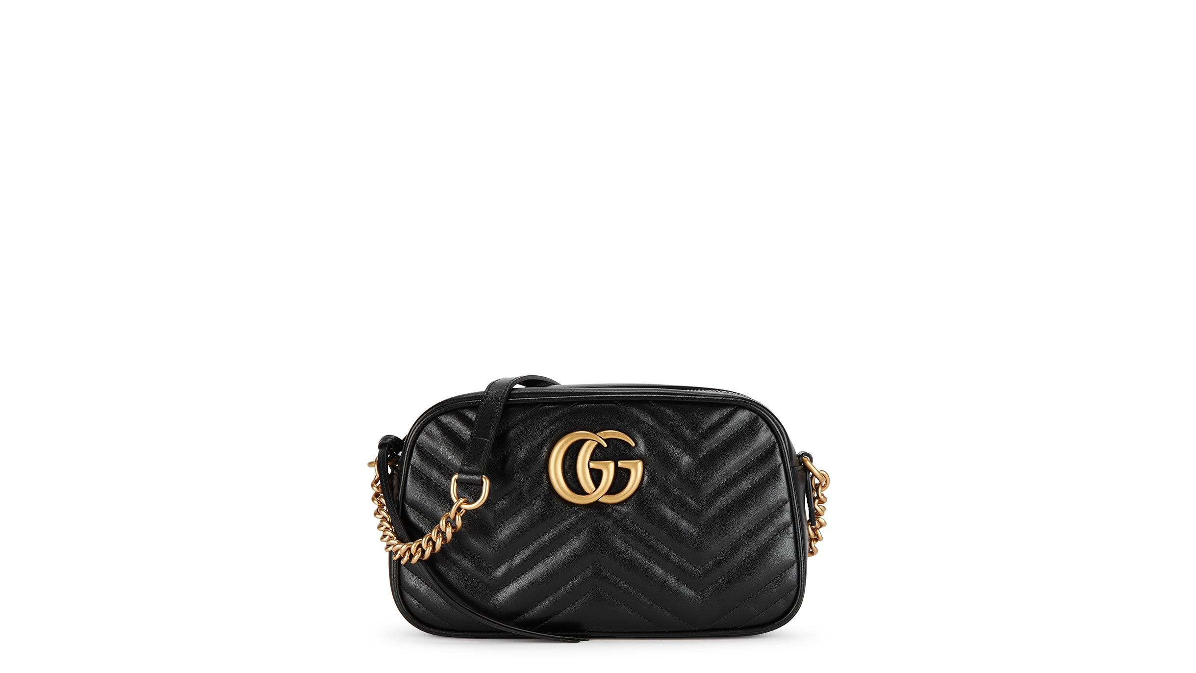 f6cd94834 Gucci GG Marmont small leather cross-body bag - Harvey Nichols