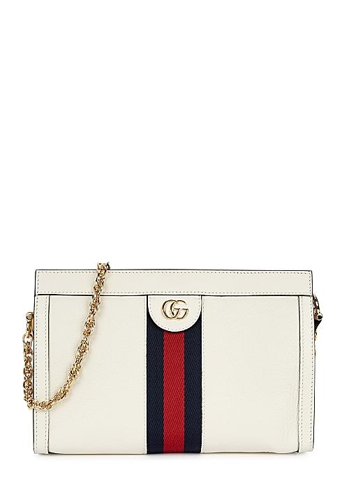 75572e164 Gucci Ophidia white leather shoulder bag - Harvey Nichols