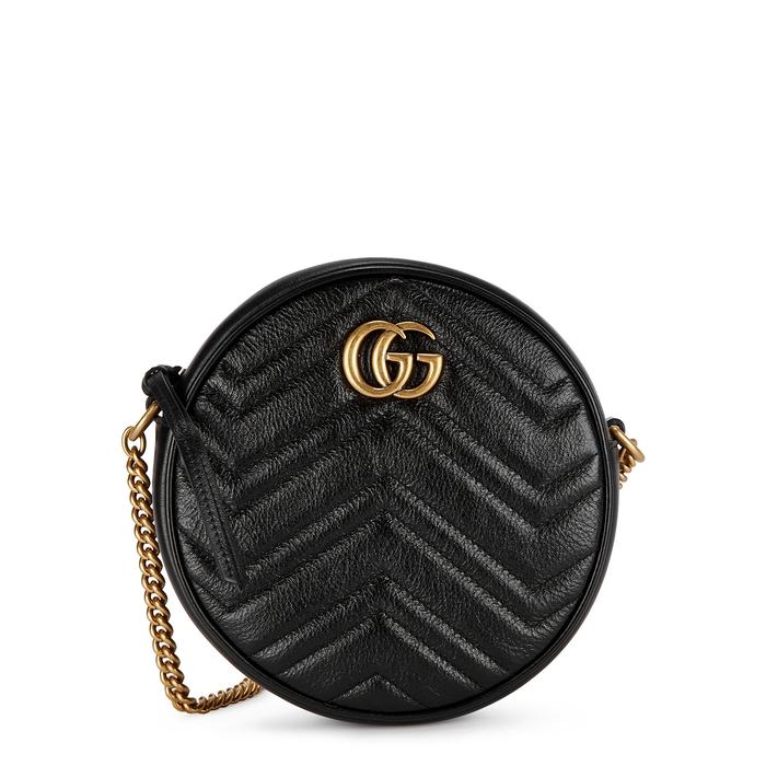 Gucci Gg Marmont Black Leather Shoulder Bag