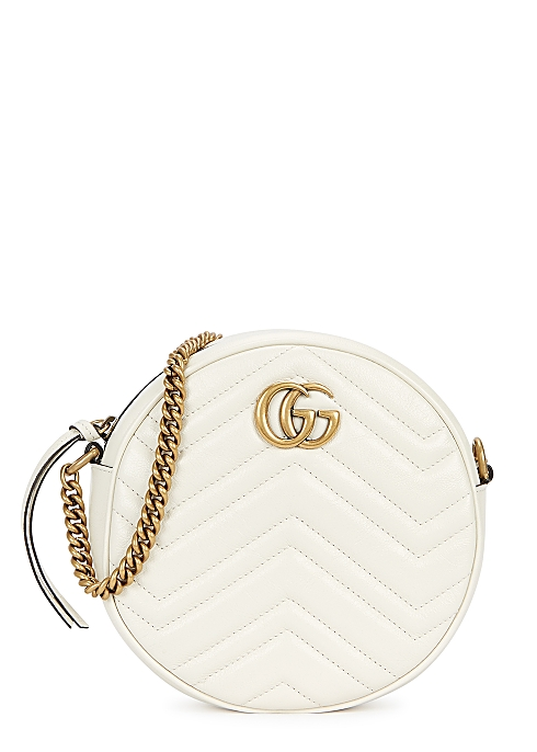 f06bd8ee8f1 Gucci GG Marmount white leather shoulder bag - Harvey Nichols