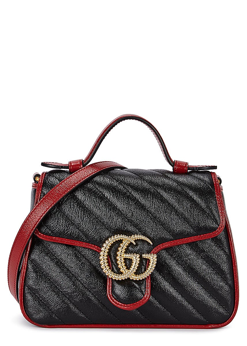 b049225a3 GG Marmont mini leather cross-body bag ...