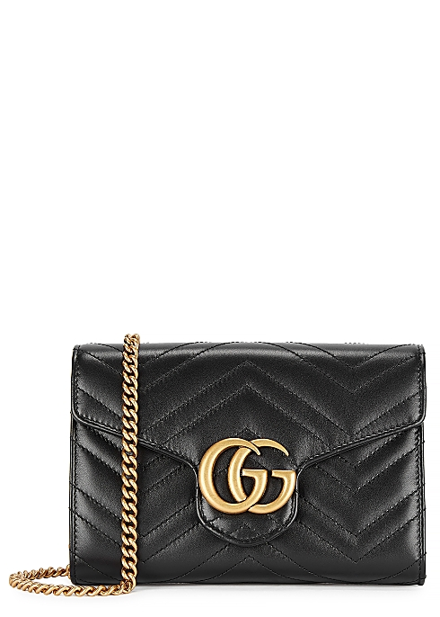 54e61d9f7 Gucci GG Marmont leather wallet-on-chain - Harvey Nichols