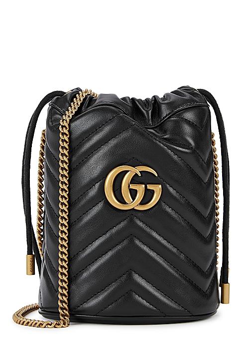 c43de9cc Gucci GG Marmont mini leather bucket bag - Harvey Nichols