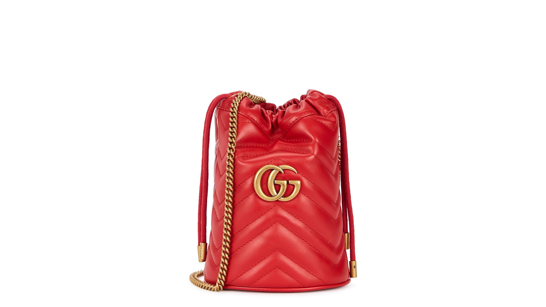 6b11b1958 Gucci GG Marmont mini leather bucket bag - Harvey Nichols
