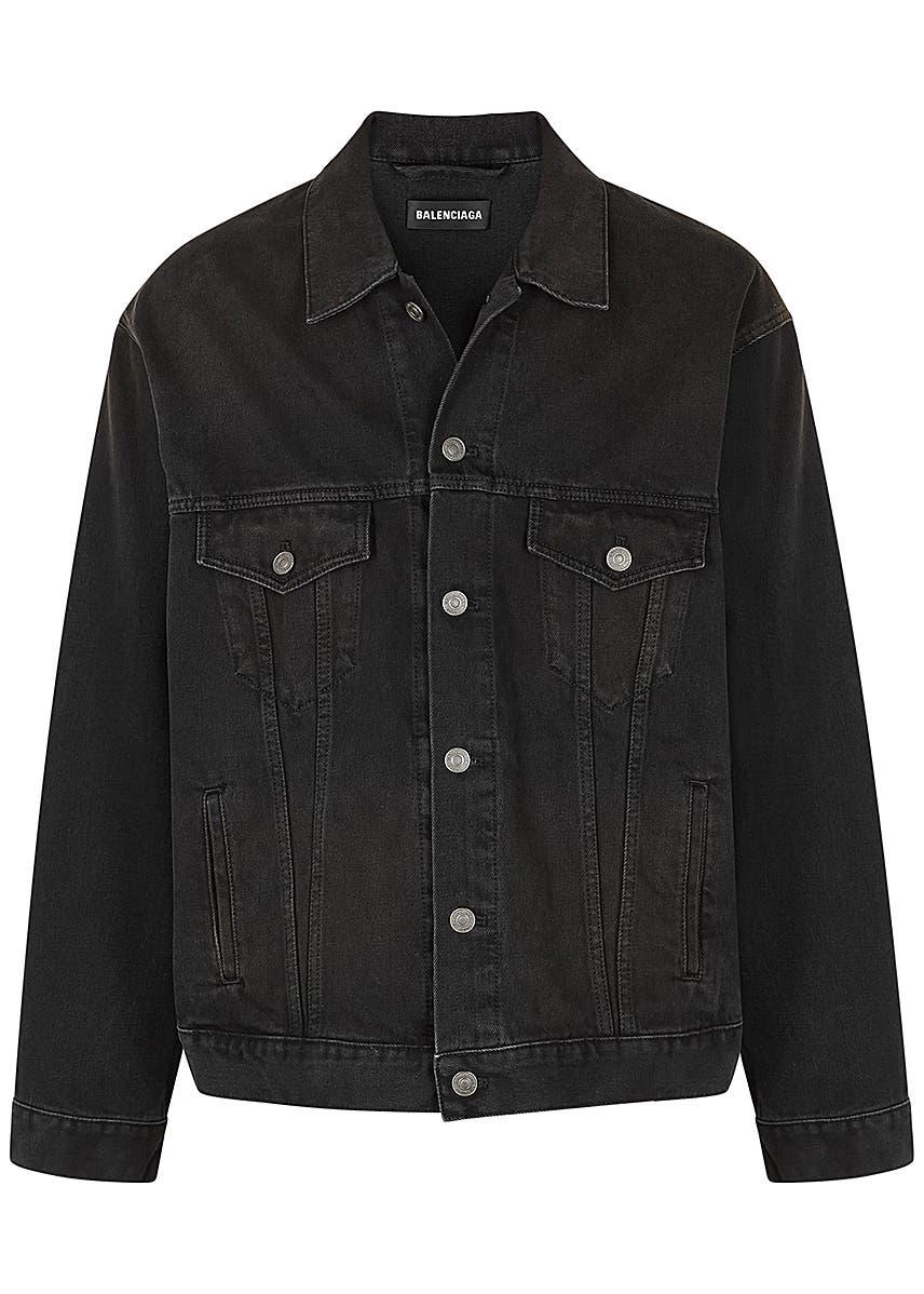 f2438817f326 Black logo-embroidered denim jacket Black logo-embroidered denim jacket.  New In. Balenciaga