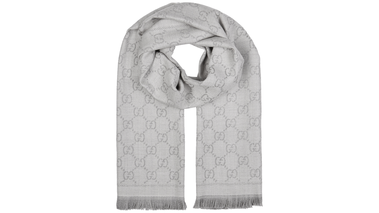 5d1f5c21 GG jacquard wool scarf