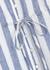 Frida striped linen-blend midi dress - Rails