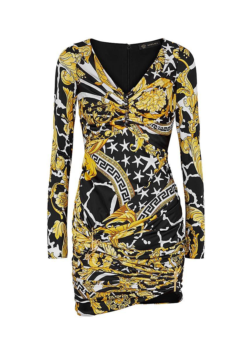 8642feb4c Versace. Black modal blend jogging trousers. £225.00 · Baroque-print jersey  mini dress ...