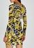 Baroque-print jersey mini dress - Versace