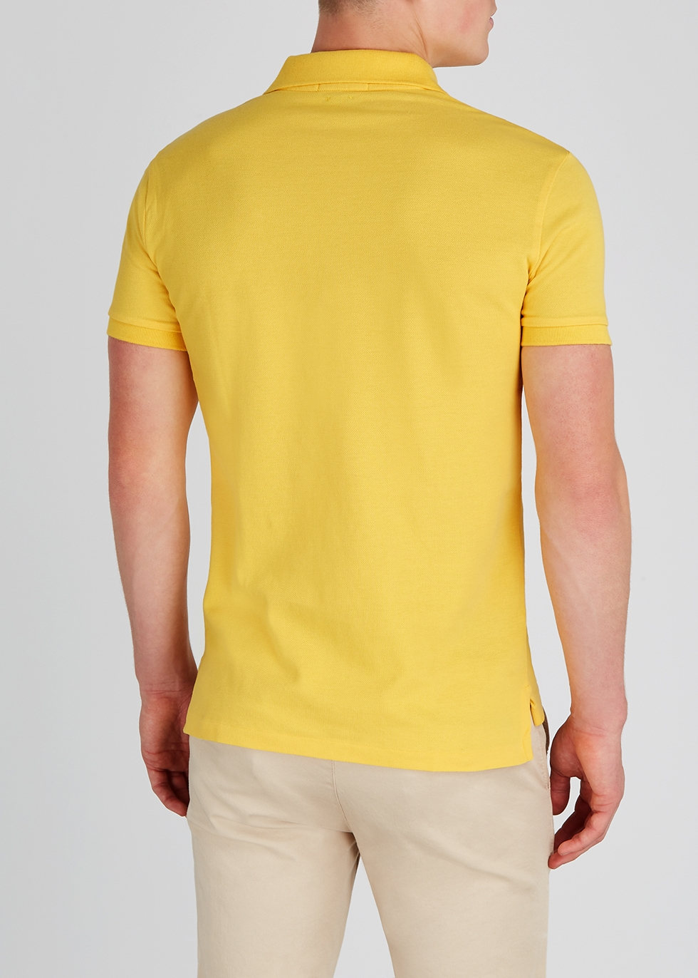 Lauren Nichols Piqué Yellow Polo Cotton Shirt Harvey Ralph J3uFKlT1c