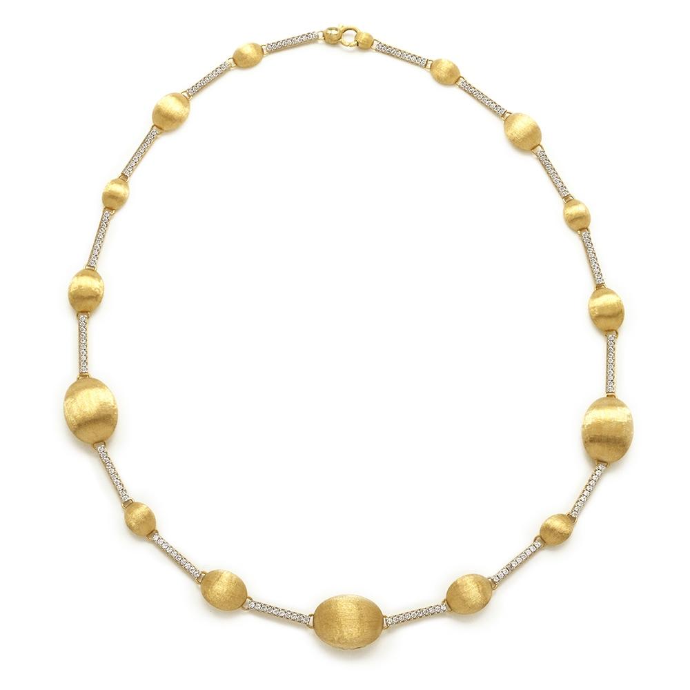 MOZAFARIAN | Mozafarian Yellow Gold And Diamond Necklace | Goxip
