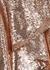 Rose gold sequin mini dress - Alexandre Vauthier