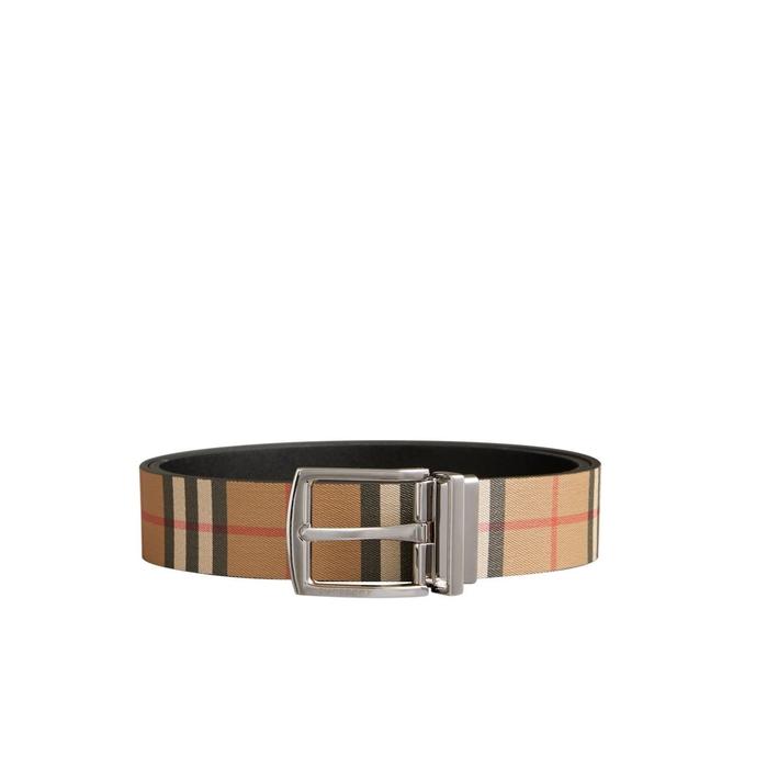 Burberry Reversible Vintage Check Leather Belt