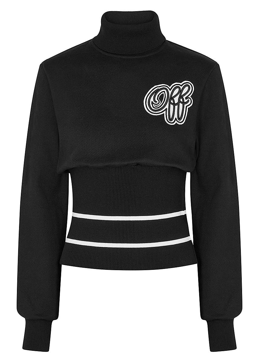 cc6bcb82 Black appliquéd cotton sweatshirt Black appliquéd cotton sweatshirt. New  Season. Off-White