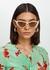 Charlie cream cat-eye sunglasses - Tom Ford Eyewear