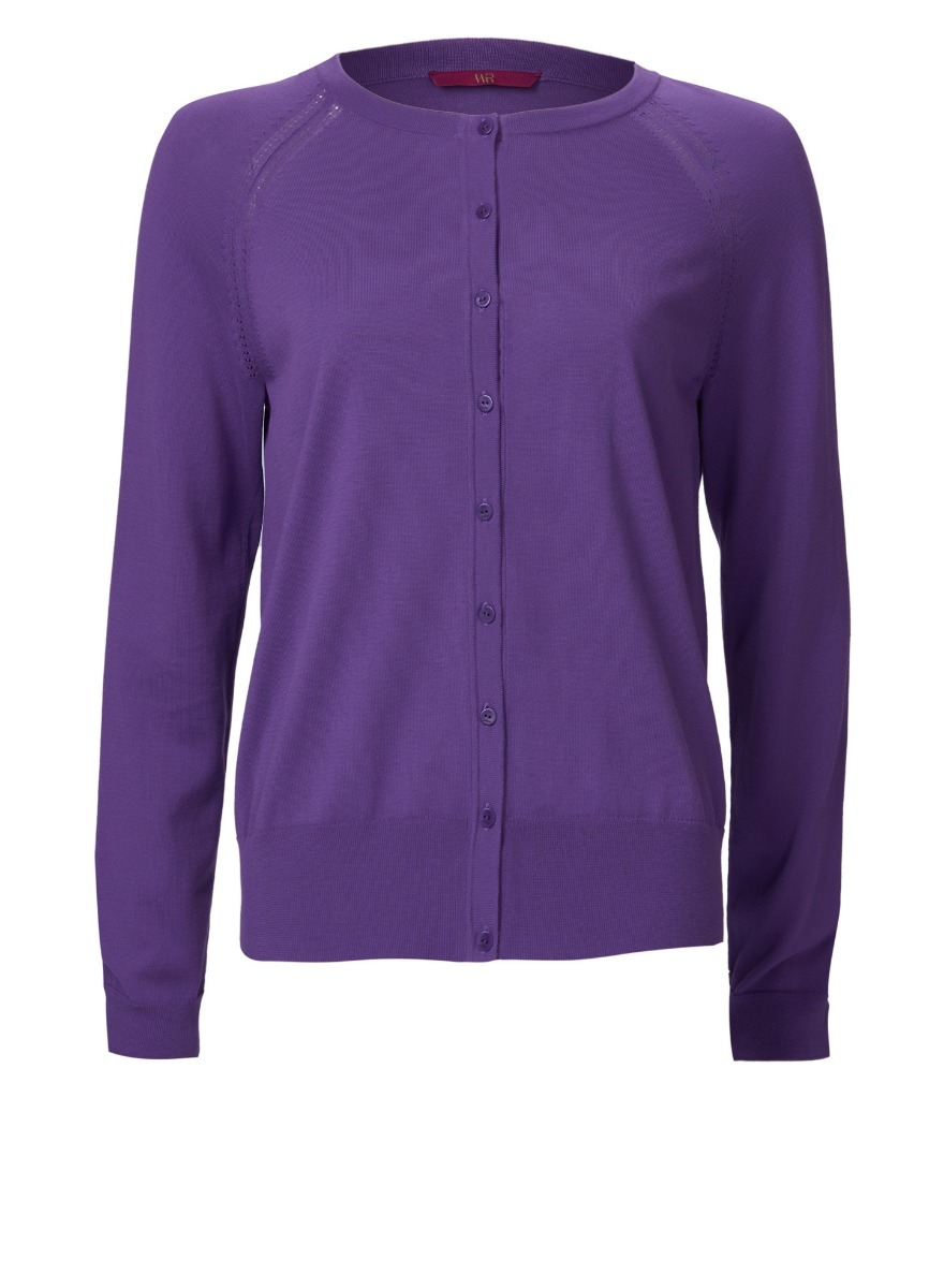 WTR | WtR Layering Purple Cotton Cardigan | Goxip