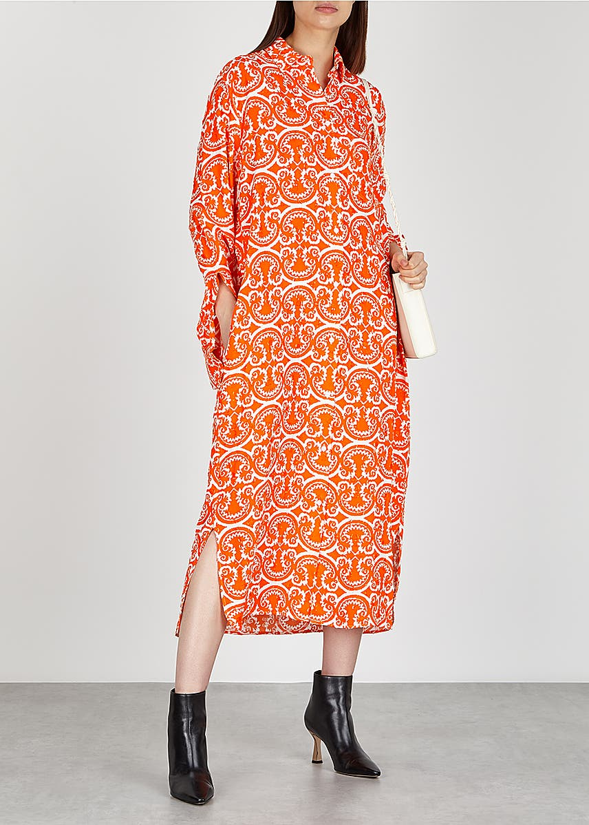 6d1b77271e Lance orange printed shirt dress Lance orange printed shirt dress