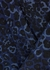 Riley navy leopard-print silk blouse - Cefinn