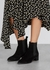 Lou 40 black suede Chelsea boots - AEYDE