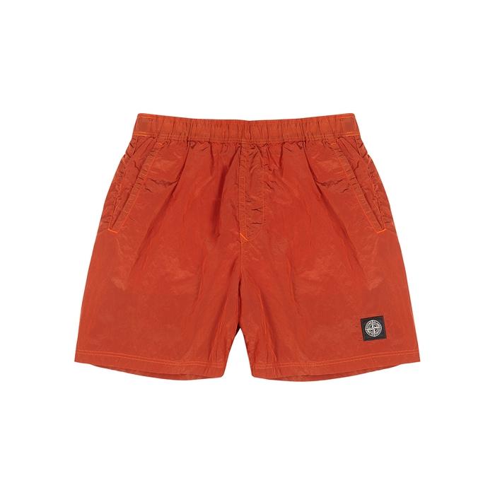 Stone Island Orange Shell Swim Shorts