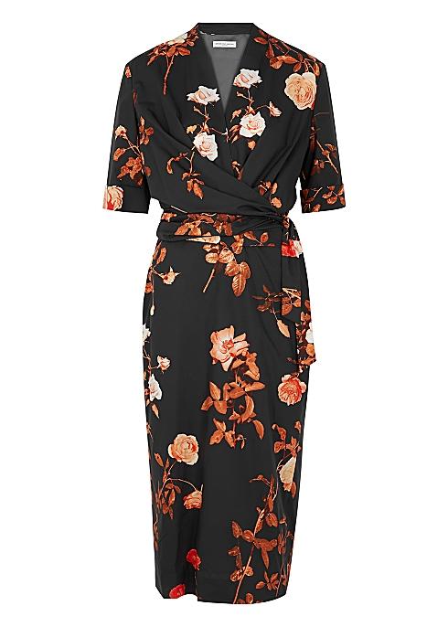 bc74e932e77c Dries Van Noten Darmina floral-print cotton midi dress - Harvey Nichols