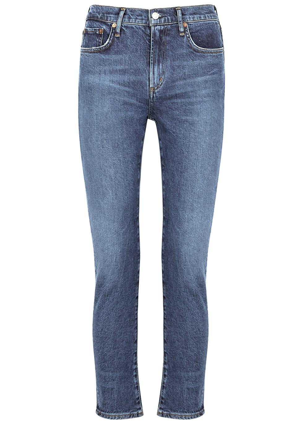 Toni dark blue straight-leg jeans