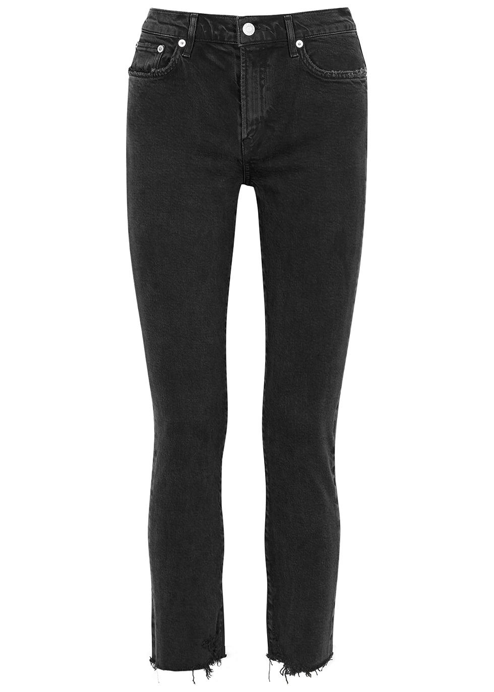 Toni black straight-leg jeans
