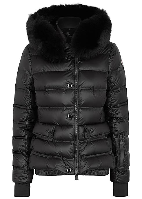 29264f594c4 Moncler Grenoble black fur-trimmed shell jacket - Harvey Nichols