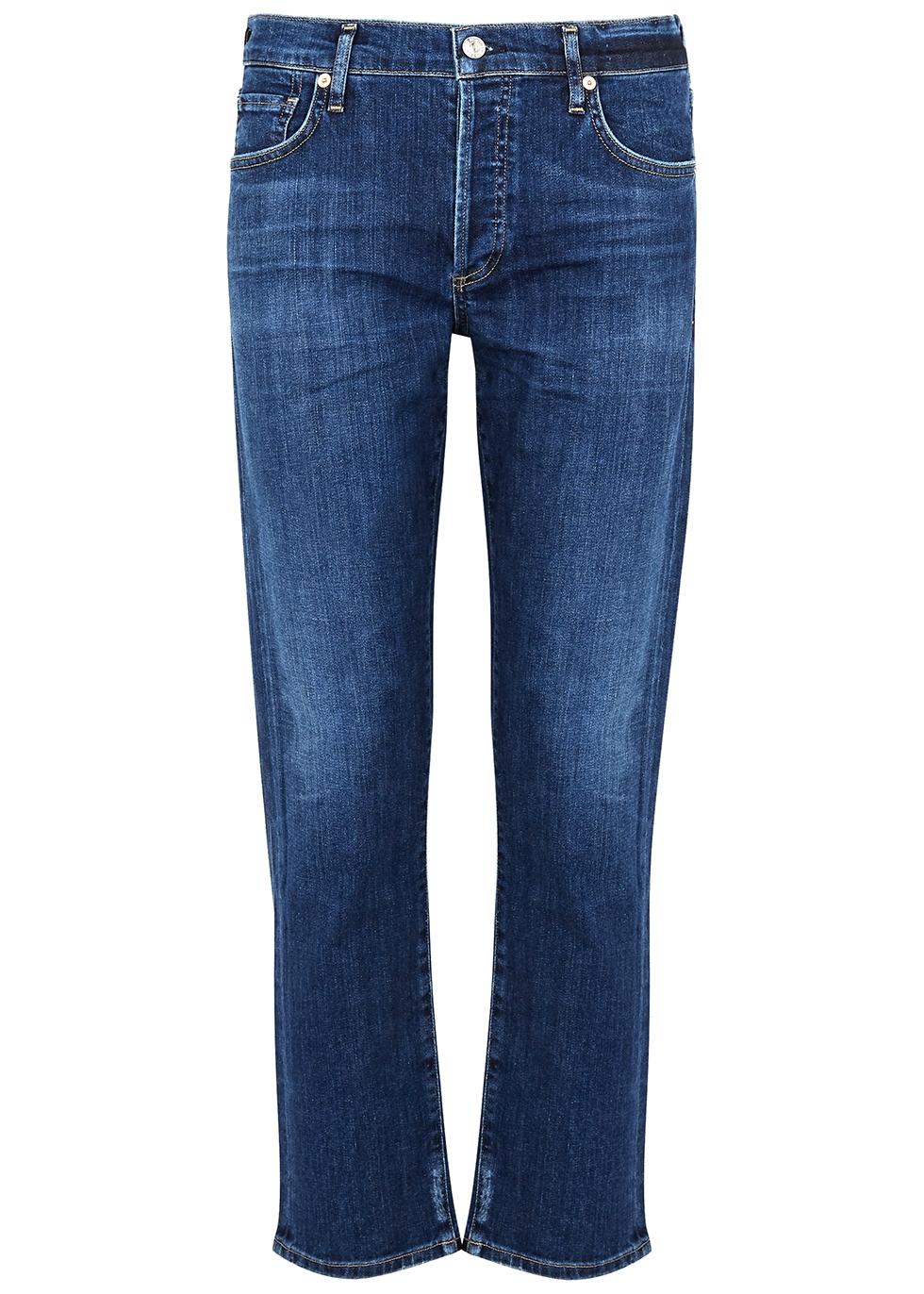 Emerson dark blue slim-leg jeans