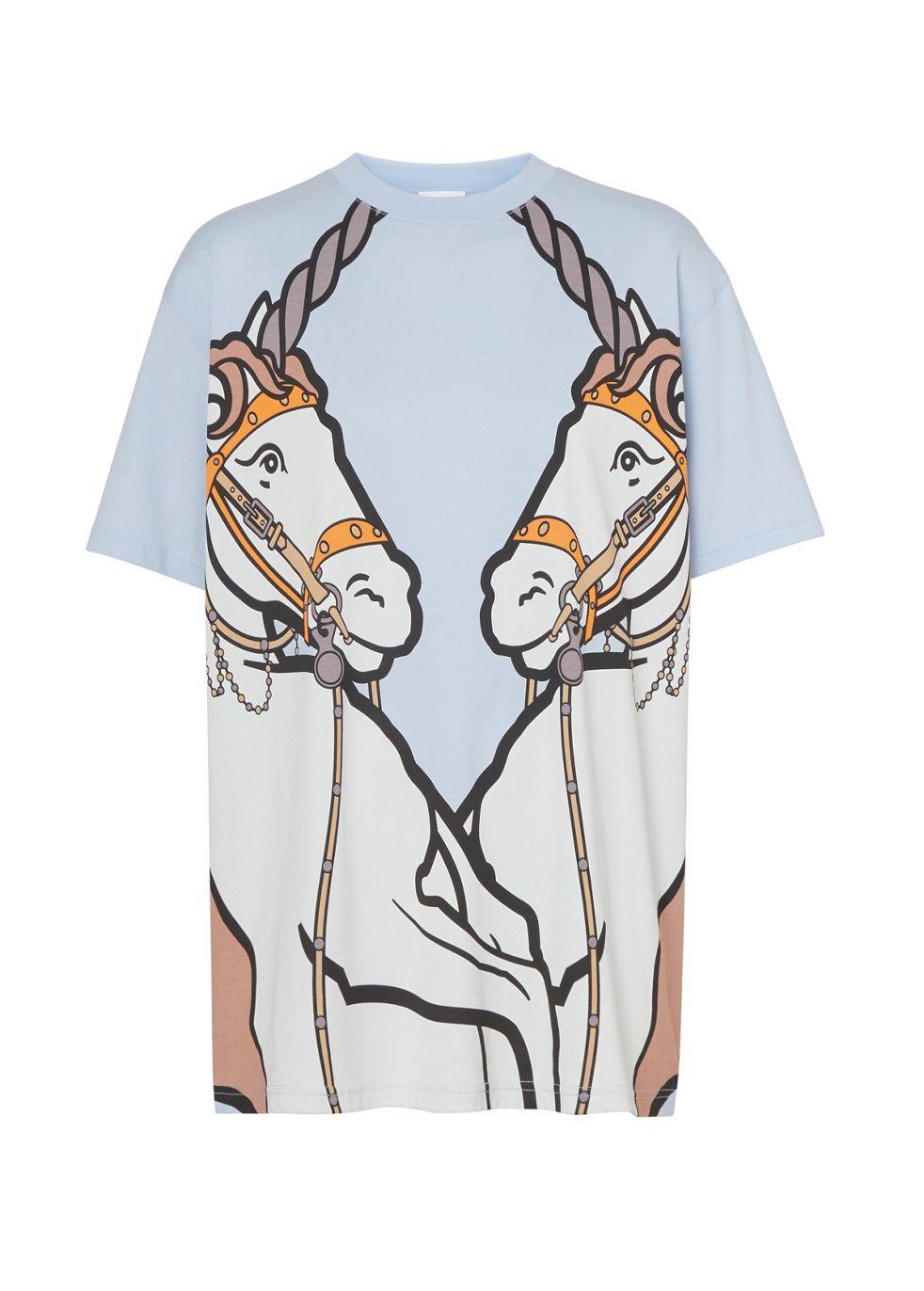 BURBERRY | Burberry Unicorn Print Cotton Oversized T-Shirt | Goxip