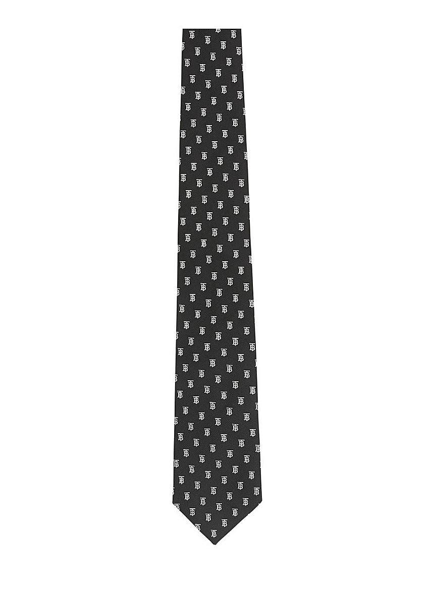 0e193ac5328d Classic cut monogram motif silk jacquard tie ...