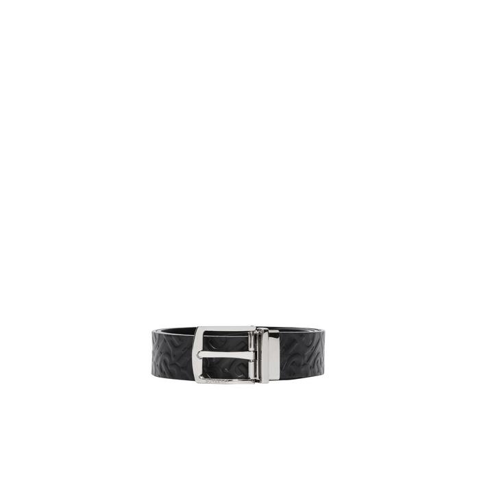 Burberry Reversible Monogram Leather Belt
