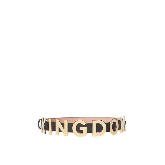 Burberry Kingdom Motif Leather Belt