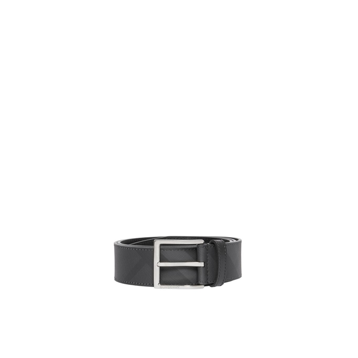 Burberry London Check And Leather Belt
