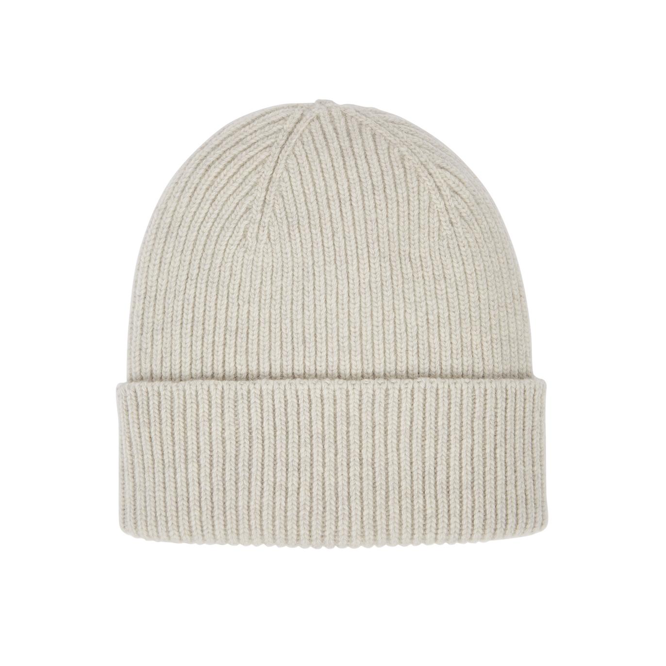 d72adc05d Light-grey knitted merino wool beanie
