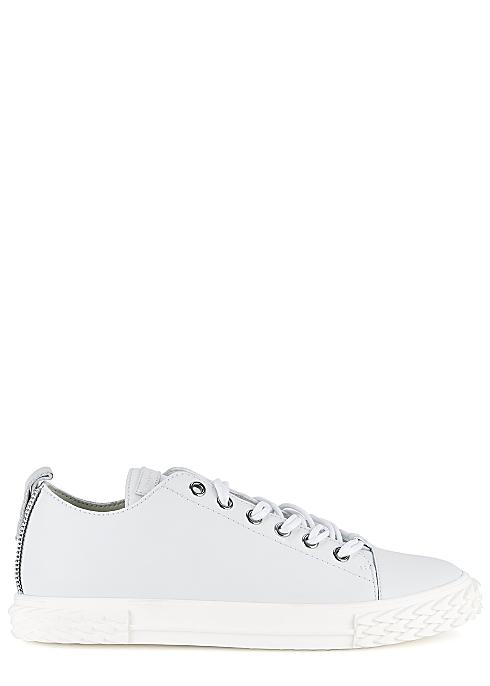 177f8317e4e13 Giuseppe Zanotti Blabber light grey leather sneakers - Harvey Nichols