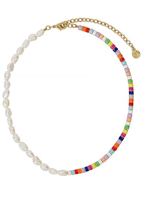 Baublebar Ellie multicoloured pearl necklace - Harvey Nichols