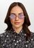 Lisa diamond-frame sunglasses - Saint Laurent