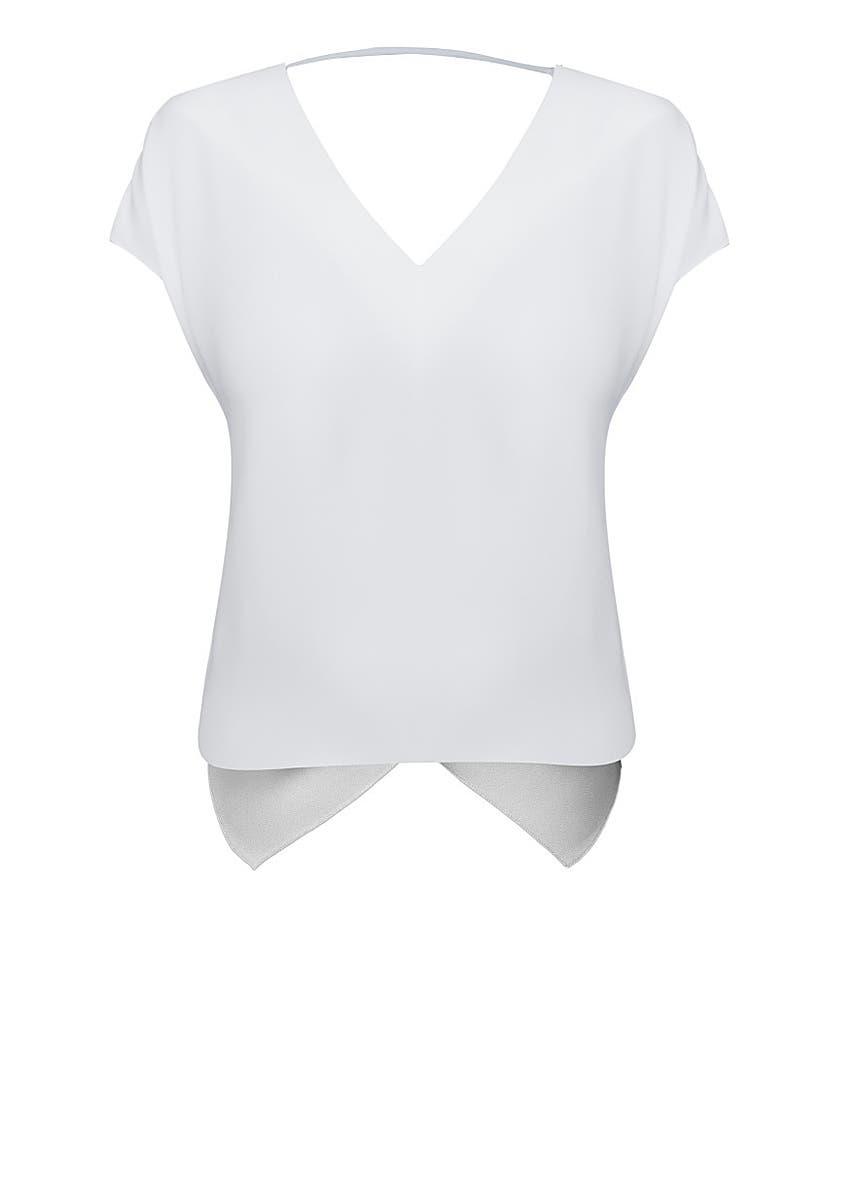 6822ee13 Swanky white folded back top ...