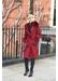 Bordeaux cashmere fox trim coat - Popski London