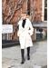Cream cashmere fox trim coat - Popski London