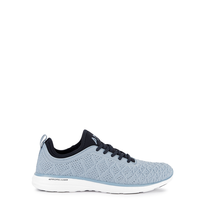 Apl Athletic Propulsion Labs Shoes TECHLOOM PHANTOM LIGHT BLUE KNITTED TRAINERS
