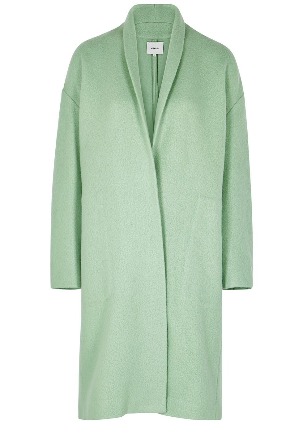 clients first presenting latest collection Mint wool-blend felt coat