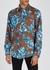 Floral-print twill shirt - AMI