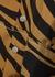 Caramel zebra-print silk midi skirt - 3.1 Phillip Lim